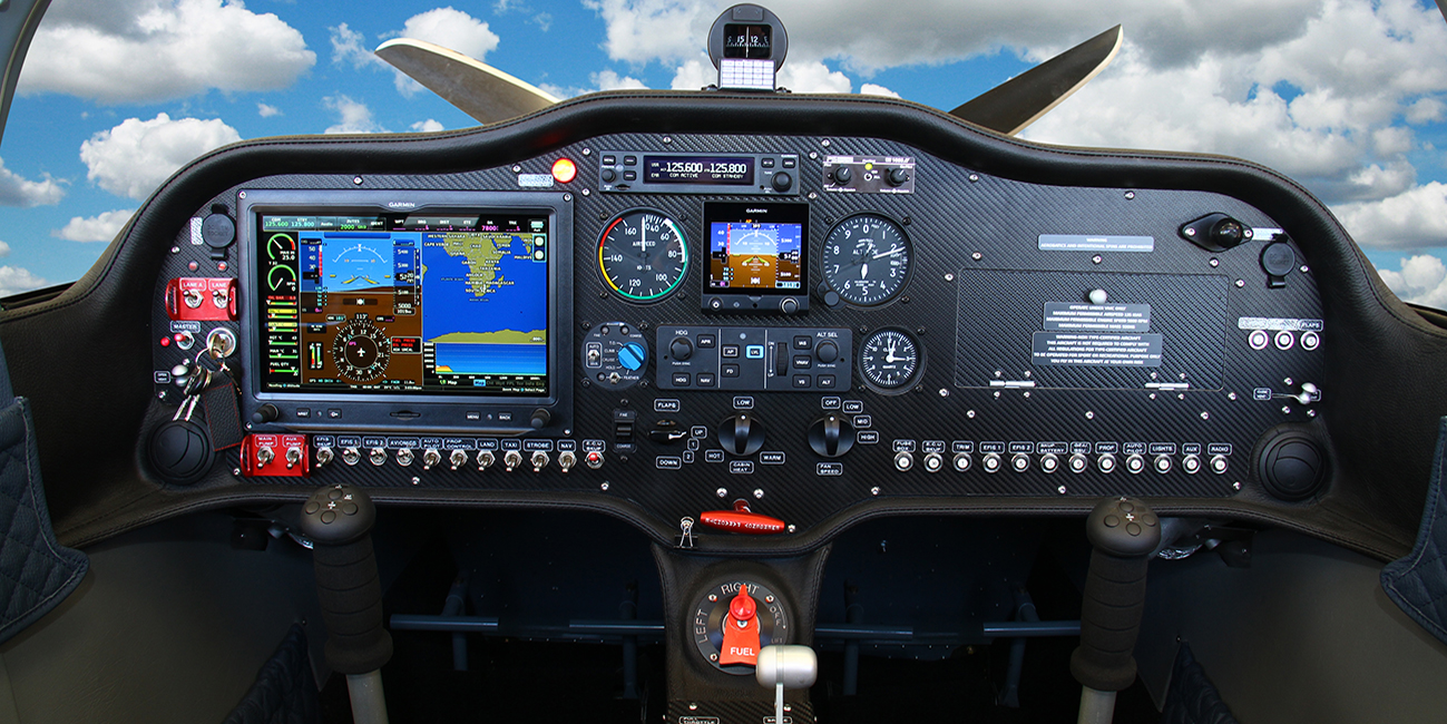 sling tsi aircraft panel of the airplane factory