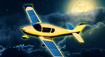 sling aircraft releases lunar paint which recharges their aircraft at night
